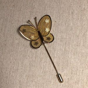 Vintage Butterfly Stick Pin